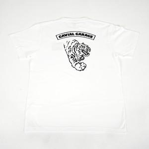 """GARAGE """"TIGER"""" TEE (WHITE) / GAVIAL"""