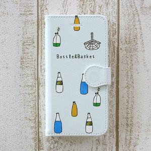 北欧 ボトルとバスケット 手帳型スマホケース/スマホカバー iPhone/android