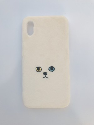 【iPhoneX/Xs専用】ネコiPhoneケース【オッドアイ】