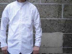 SERO (セロ) バンドカラー ブロードシャツ ホワイト