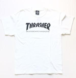 THRASHER MAGAZINE / Skate Mag T-Shirt / White / sizeL