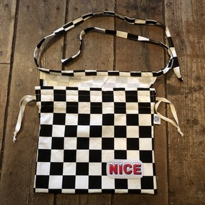 NICE 3-Way Red Cross Bag, Checker Black/White
