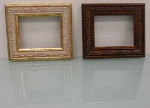 樹脂アンティークおしゃれ樹脂フレームアイボリー&ブラウンD-8222額縁サイズ100mm×80mm窓枠サイズ86mm×66mm 2mmアクリル裏板付 壁掛け用/箱なし