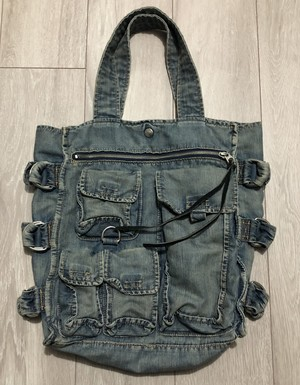 SS2005 JUNYA WATANABE MAN MULTIPLE POCKET DENIM BAG