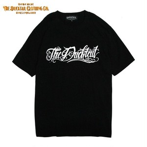 "DUCKTAIL CLOTHING ""Rie la fortuna viene"" BLACK ダックテイル クロージング 半袖 Tシャツ"