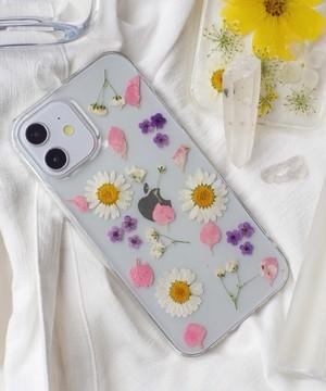 〈スマホケース〉ドライフラワー クリア iPhoneケース  3