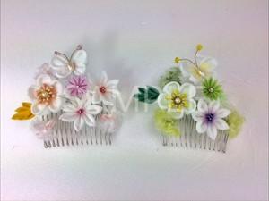 【中級クラス】山崎智江美先生による「パウダー染めの花寄せコーム」