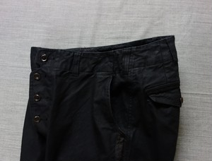 antiqued german sideline jodhpurs / black-serge