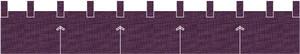 麻糸風カウンター用防炎のれん:くわの実色