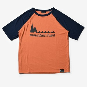 MMA×huntstored. Raglan Tee (Orange_Navy)
