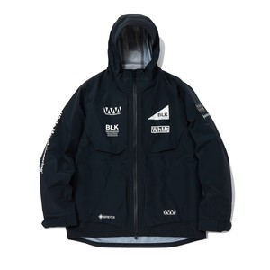 GORE-TEX LOGO PRINTED MOUNTAIN PARKA - BLACK