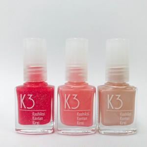 K3ネイル 3本セット(ピンク、ベージュ、ローズ)