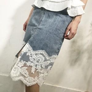 デニムレーススカート