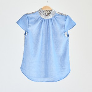 19SS Cap sleeve race Tops〈Blue〉