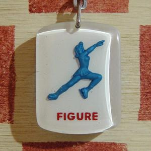 フランス FIGURE[フィギュア]アスケート冬季オリンピック記念1968年 ブルボンキーホルダー
