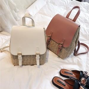 Straw Backpack Travel Bag Rucksack サマー 夏物 バックパック リュック (HF0-4367885)