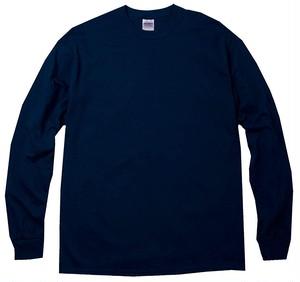 オーバーサイズ クルーネック Tシャツ (長袖) ネイビー