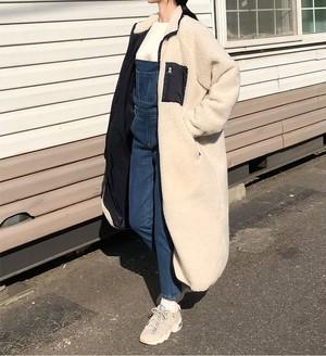 [大人気アイテム]long long boa coat