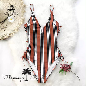 【FlamingoBeach】brown stripe monokini モノキニ