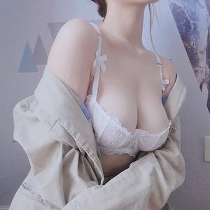(A-Eカップ)【下着セット】透かし彫り刺繍リボンワイヤー入りブラ&ショーツセット25049345