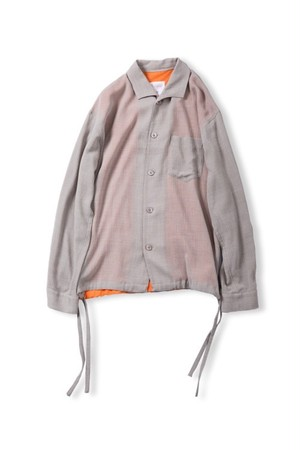 Leh Wing Collar Shirts (Gray / size:M) [LEH_693]