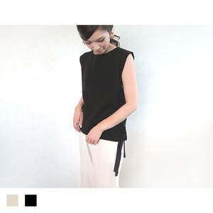 サイドリボンベスト(ブラック)|A08001
