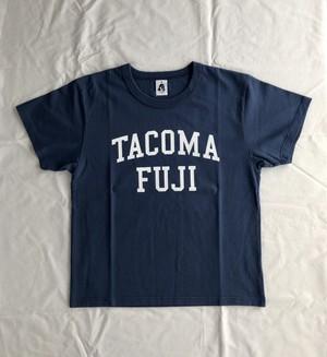 TACOMA FUJI RECORDS COLLGE LOGO  designed by Shuntaro Watanabe  NAVY