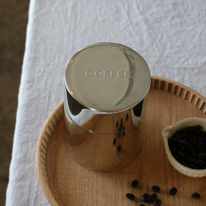 CINQ ブリキの丸缶 コーヒー缶