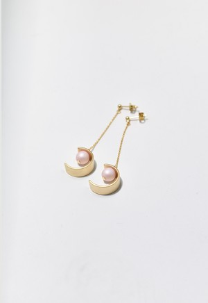 C-frame pierce Gold/Pale Pink