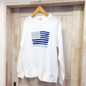 American Flag / Sweat shirt(white) / ユニセックス / スウェット