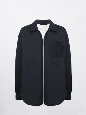 MARNI Padded Shirts Jacket Blue Black CUMU0188W0