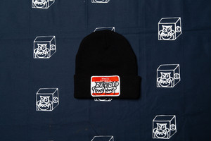 HELLO KNIT CAP (BLACK x RED)