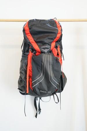 【OGZ USED】Osprey エクソス38 / 色: ブレイズブラック / サイズ: M / オスプレイ バックパック