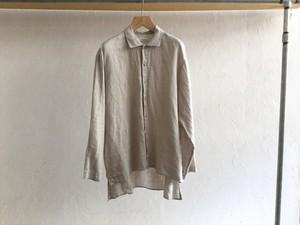 "Men's AUGUSTE-PRESENTATION Pajama Look""長袖レギュラーカラーシャツLight Gray"""