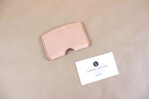 JAPAN LANSUI DESIGN 名入れ対応 ヌメ革手作り手縫い ICカードケース 品番JND93KHDF43