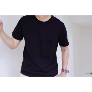 Simva104-0042S-Black W-Pocket S/S Tシャツ