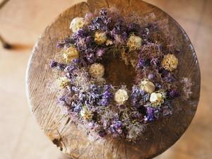 紫陽花とスモークツリーの大人リース
