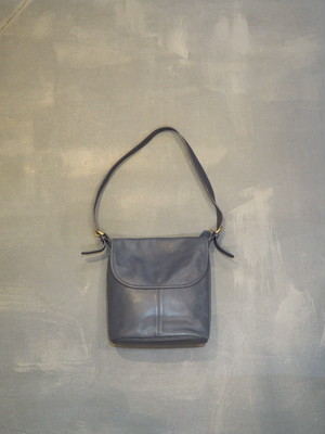 Old COACH Shoulder Flap Bag / Made in US [B-447]
