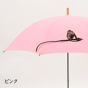 【送料無料】三光鳥の傘 ピンク