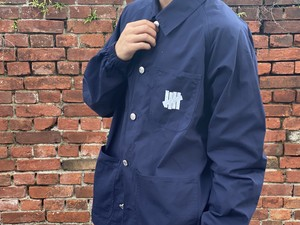 UNDEFEATED 20SS RIPSTOP CHORE JACKET NAVY MEDIUM 40JG7642