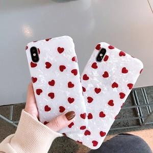 【小物】insハート柄iphoneX/XS/MAXスウィートiphone8/7plus/6sp少女シリコンスマホケース