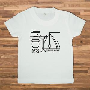 【ベビー】キャンプ2 Tシャツ/ホワイト【CWE-086BWH】