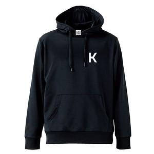 K ロゴ ドライスウェットプルオーバー(ブラック×ホワイト)