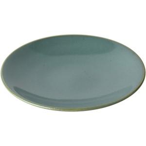 益子焼 つかもと窯 中皿 ブルー 15.6cm ソーサー 伝統釉シリーズ 益子青磁釉 KKS-4