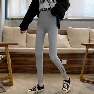 【ボトムス】ファッション韓国ハイウエストアルファベットカジュアルパンツ