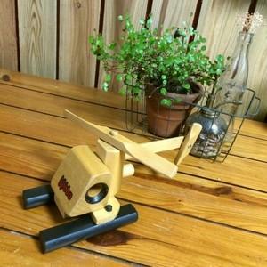 ≫ニュージーランドKobba*ウッド木製おもちゃトイ*ヘリコプター