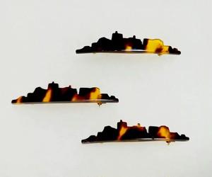 【長崎べっ甲】軍艦島ブローチ