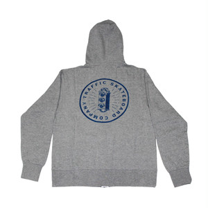 TRAFFIC BURST FULL ZIP HOODIE HEATHER GREY サイズM