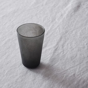 奥平明子 Akiko Okudaira  石コップ マットグレイグラス