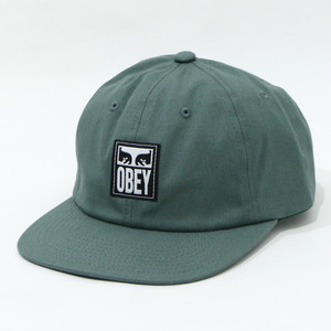 【OBEY】ICON LABEL 6 PANEL STRAPBACK (M.GREEN)